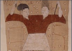 伏羲(左)女娲(右)兄妹交合图