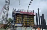 南京仙新路过江通道南塔塔柱第一节浇筑完成