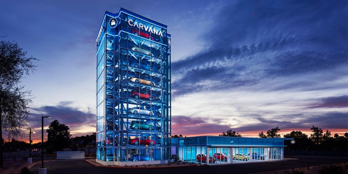 遥望二手车电商Carvana,在线购车或成终局模式