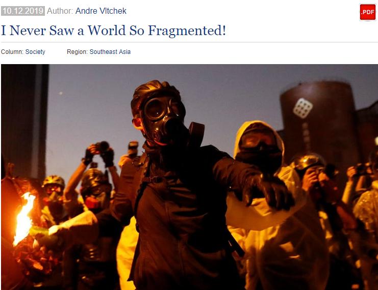 美战地记者:我提醒香港暴徒被美利用 却被当疯子