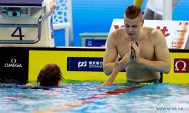 Danas Rapsys of Lithuania claims title of Men's 400m Freestyle Final at 14th FINA World Swimming Championships