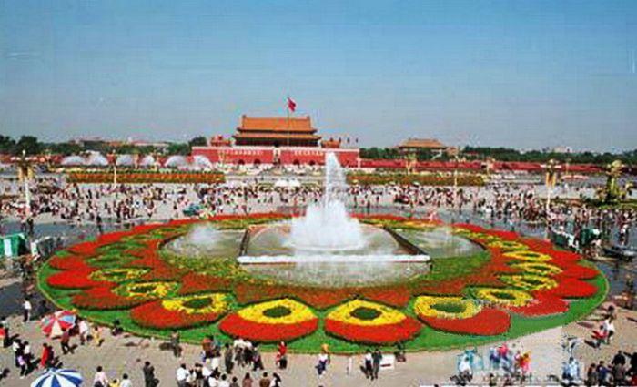 1994天安门广场国庆花坛