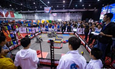 Asian championship of VEX robot for teenagers held in Macao