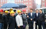 龙港市委书记郑建忠在龙港新城调研重点工程建设