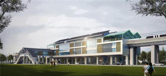 杭海城际铁路首座车站土建主体结构完工 2021年全线建成通车