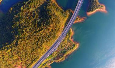 Autumn scenery of scenic area in Jiujiang, E China's Jiangxi