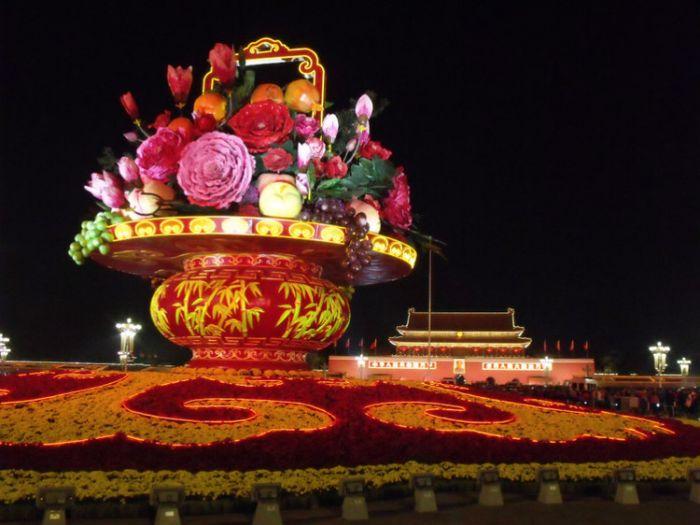 2013天安门广场国庆花坛