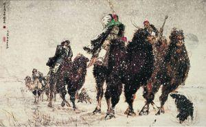 黄胄《洪荒风雪》-1955