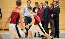 Merkel visits German city of Chemnitz