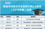 教育部發佈首批基礎學科拔尖學生培養計劃2.0基地,浙大入選6個