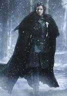 琼恩·雪诺  演员:基特·哈灵顿  艾德公爵的私生儿子,与罗柏·史塔克同龄,兄弟关系亲密无间。其母身份不明,艾德公爵拒绝向任何人透露——有人传说那是南方某家族的一位贵族小姐,也有人说是一个寻常的使女。