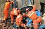 农用车坠沟致一人被困!聊城消防紧急救援