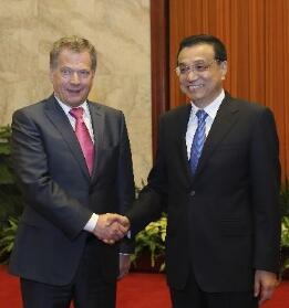 李克强接见芬兰总统