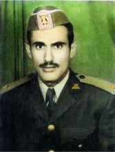 青年军官时期的萨利赫